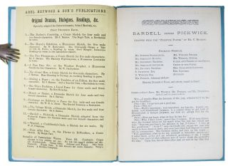 BARDELL v. PICKWICK, Adapted from the Pickwick Papers.; For thirteen male and two female characters, and a Jury. Abel Heywood & Son's Publications. Original Dramas, Dialogues & readings. No. 11