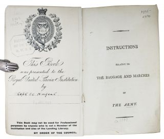 INSTRUCTIONS RELATIVE To The BAGGAGE And MARCHES Of The ARMY.