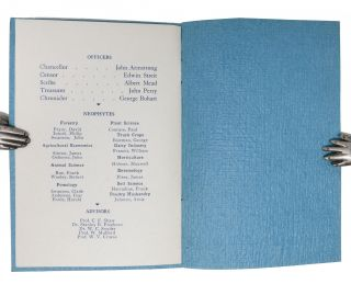 CALIFORNIA CHAPTER ALPHA ZETA.; Invitation Banquet. October 10, 1947. Berkeley Women's City Club.