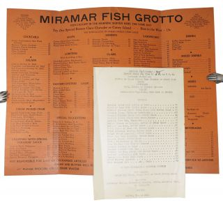 MIRAMAR FISH GROTTO.; See Special Suggestions To Take Home.