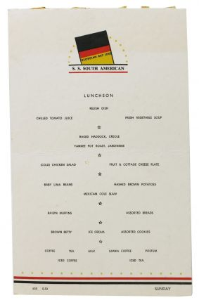 LUNCHEON.; Georgian Bay Line - S. S. South American. Ship Menu
