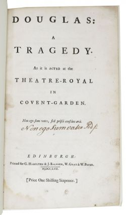 DOUGLAS: A Tragedy.; As It Is Acted at the Theatre - Royal in Covent - Garden.