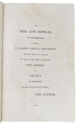 URANIA; or, The Illumine: A Comedy, in Two Acts.; As Performed at the Theatre Royal, Drury Lane.