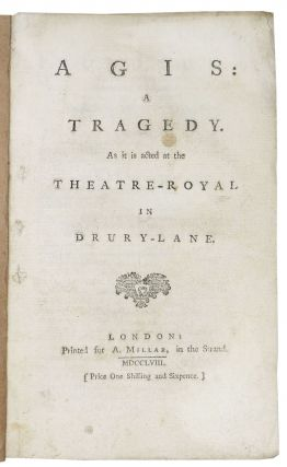 AGIS: A Tragedy. As It is Acted at the Theatre - Royal in Drury - Lane.