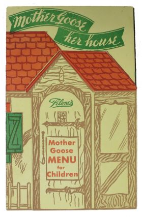 FILENE'S.; Mother Goose Menu for Children. Childrens Menu