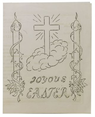 JOYOUS EASTER.; Souvenir Menu - *Easter Dinner*. Military Sea Transportation Service