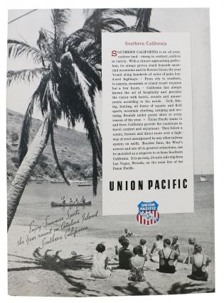 SEE BOULDER DAM ENROUTE To Or FROM CALIFORNIA.; Union Pacific - The Overland Route. Luncheon.