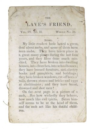 The [S]LAVES FRIEND.; Vol. IV. No. II. - Whole No. 33. Children's Chapbook