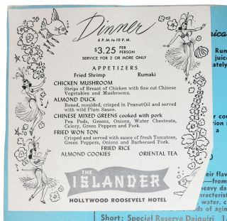 The ISLANDER.; Hollywood Roosevelt Hotel.