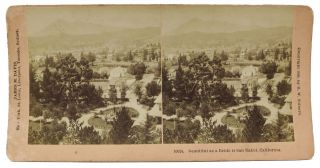 """Beautiful as a Bride is San Rafael, California"" 10024. California Stereoview Photograph,..."