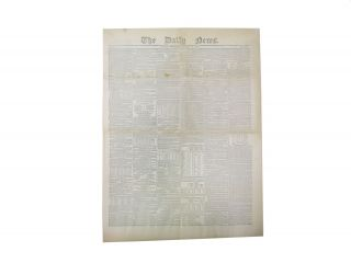 """Travelling Letters, Written on the Road - No. I."" [as published in] The DAILY NEWS. London,..."