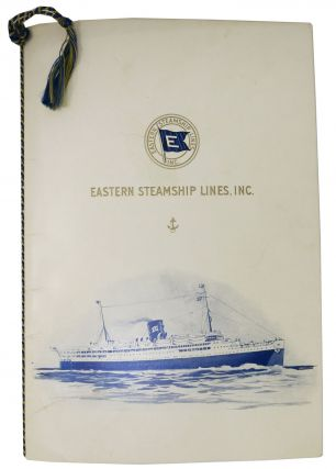 "S. S. ARCADIA MEMORABILIA Including ""Farewell Dinner"" Menu, Stateroom Plan & Passenger List.;..."