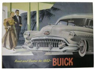 FRONT And CENTER For 1952-- BUICK. Automotive Promotional Brochure