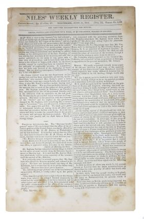 AFFAIRS Of The CHEROKEES. From the Cherokee Phoenix of May 28, 1831 [as published in] The Niles...