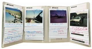 A COLLECTION Of POLAROID'S (Primarily) Of AIR SHOWS AT MOFFETT FIELD AND TRAVIS AFB. Air show...