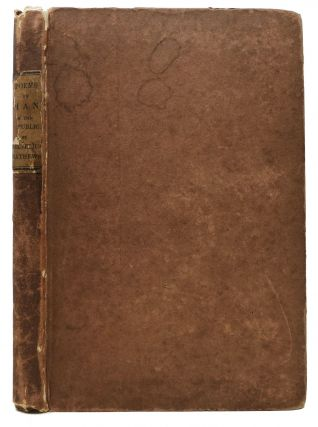 POEMS On MAN, in his Various Aspects Under the American Republic. Cornelius Mathews, 1817 - 1889