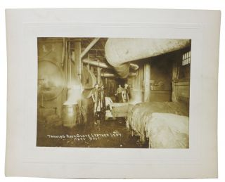 ARCHIVE Of 12 ALBUMEN PHOTOGRAPHS DEPICTING KARG BROS. TANNERY OPERATIONS. History of Tannery /...