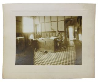 ARCHIVE Of 12 ALBUMEN PHOTOGRAPHS DEPICTING KARG BROS. TANNERY OPERATIONS.