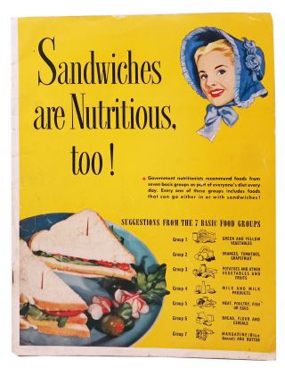 SANDWICHES ARE NUTRITIOUS TOO! [Cover title]; Good Housekeeping's Sandwich Manual. Booklet...