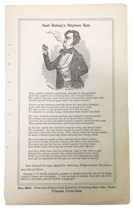 AUNT BETSEY'S NEPHEW SAM. No. 80.; [with] The TOBACCO ANTIDOTE. George Trask, 1798 - 1875