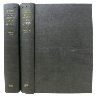 COMPLETE CATALOGUE Of The LIBRARY Of JOHN QUINN.; Sold By Auction in Five Parts. Auction Catalog