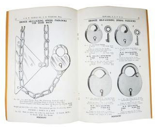"""""""J. H. W."""" CLIMAX CO. Manufacturers of Jail Locks Padlocks Switch Locks Night Latches Elevator and Gate Locks and Latches. Aug. 1912."""