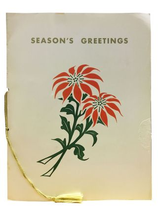 SEASONS GREETINGS.; In Behalf of American President Lines, Captain Joseph D. Cox, the Officers...