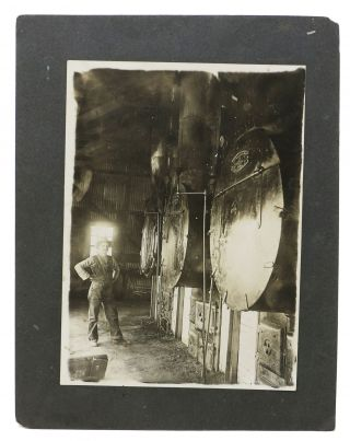 CACHE Of NINE B/W PHOTOGRAPHS DOCUMENTING 19th C / EARLY 20th C TRADES & OCCUPATIONS.