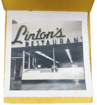 LINTON'S RESTAURANT PICTURES. Snapshot Photo Booklet.