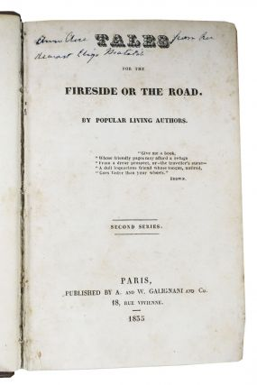 TALES For The FIRESIDE Or The ROAD. Second Series. By Popular Living Authors.