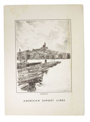 AMERICAN EXPORT LINES.; Marseilles. Cruise Linear Menu