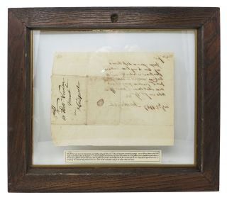 AUTOGRAPH NOTE, SIGNED [ANs]. Addressed to Wm. Vernon, the Newport Merchant.