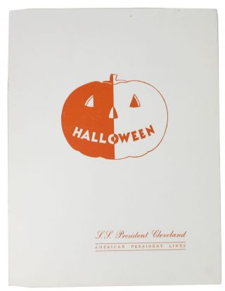 HALLOWEEN.; S. S. President Cleveland - American President Lines. Ocean Linear Menu