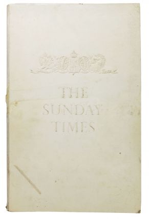 The SUNDAY TIMES. A Pictorial Biography of One of the World's Great Newspapers. Roy Herbert...