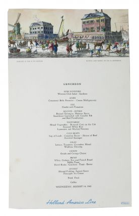 LUNCHEON.; Holland-America Line. Ocean Linear Menu