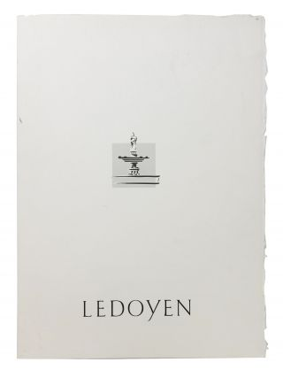 LEDOYEN. French Restaurant Menu