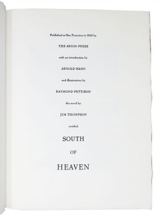 SOUTH Of HEAVEN.; With an Introduction by Arnold Hano.