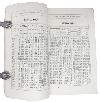 TENNENT'S NAUTICAL ALMANAC Tide Register for the Pacific Coast, and Marine Digest, for 1874.