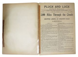 "3000 MILES THROUGH The CLOUDS or Dropped Among an Unknown Race. ""Pluck and Luck. Stories of Adventure."" No. 812. Dec 24th, 1913."