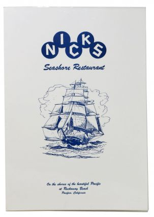 NICKS Seashore Restaurant.; On the Shores of the Beautiful Pacific at Rockaway Beach. Pacifica,...
