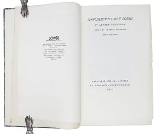 UNPUBLISHED EARLY POEMS.; Edited by Charles Tennyson, His Grandson