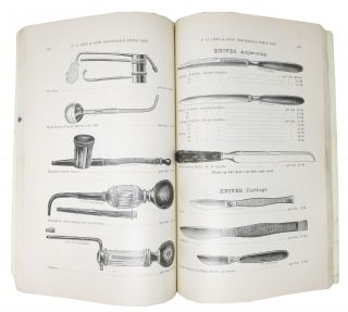 ILLUSTRATED WHOLESALE PRICE LIST Of SURGICAL INSTRUMENTS, ELECTRIC BATTERIES And VETERINARY INSTRUMENTS.; Manufactured by F. G. Otto & Sons, 44 to 50 Sherman Ave., Jersey City, N. J. Void in the Hands of Consumers.