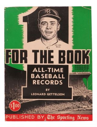 ONE For The BOOK For 1957. Complete All - Time Major League Records. Leonard - Gettelson