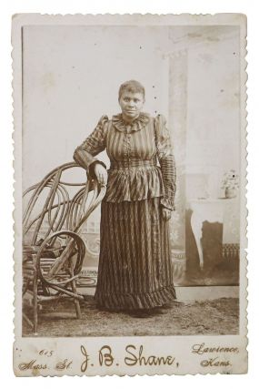 19th C. CABINET CARD ALBUMEN PHOTOGRAPH Of An AFRICAN - AMERICAN WOMAN. Mary - Subject. Shane...