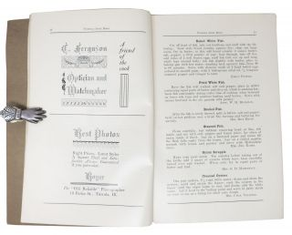 TUSCOLA COOK BOOK; Compiled by the Ladies of First Baptist Church Aid Society Tuscola, Illinois