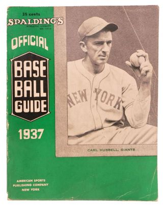 SPALDING'S OFFICIAL BASE BALL GUIDE. Sixty-first Year. 1937.; Spalding's Athletic Library. No....