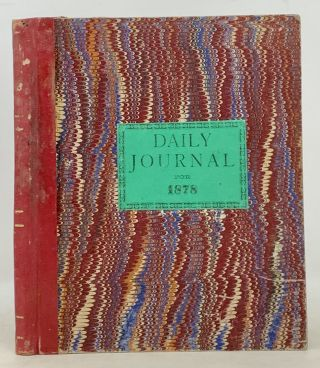MANUSCRIPT DIARY. Daily Journal for 1878.; Containing a Black Space for Every Day of the Year....