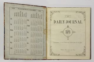 MANUSCRIPT DIARY. Daily Journal for 1878.; Containing a Black Space for Every Day of the Year.