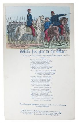 WILLIE HAS GONE To The WAR. Civil War Song Sheet, George . Foster Cooper, Stephen - Music, 1840 -...