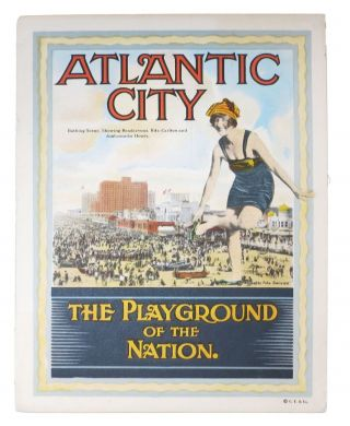 ATLANTIC CITY. The Playground of the Nation. Promotional / Booster Literature